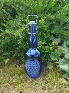 Bügelflasche 0,75 ltr. mit Blume des Lebens 2.0