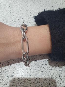 Bracelet forçat long argent