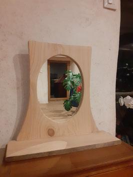 OWO - Miroir avec étagère - en Cyprès