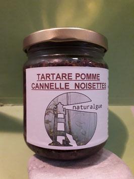 Nouveauté : Tartare de saison pomme cannelle pralin (amande/noisette)