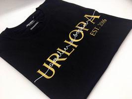 URLIOPA T-Shirt schwarz | gold mit Namen | verschiedene Größen
