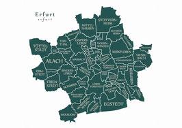 Kunstdruck - Motiv: Erfurt
