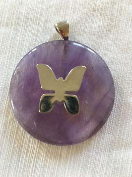 Heilkristallanhänger violetter Strahl Zadkiel, Saint Germain, Lady Amethyst