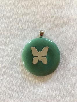 Heilkristallanhänger grüner Strahl von Erzengel Raphael und Hilarion