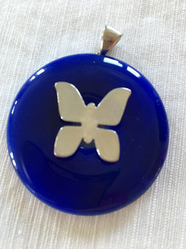Heilkristallanhänger  blauer Strahl / Erzengel Michael und El'Morya