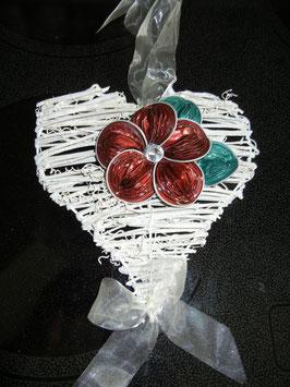 Tür-/Fensterhänger Herz mit Nespressoblume
