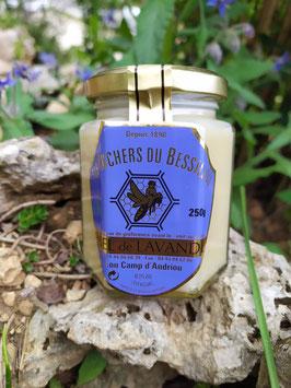 Miel de Lavandes crémeux 250g. verre