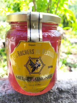 Miel de châtaignier 500 g. verre