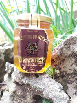 Miel de montagne (ou forêt) 250 g. verre