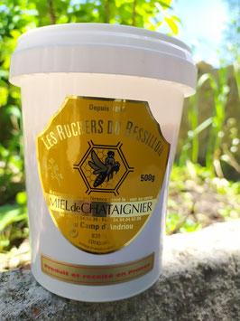 Miel de châtaignier 500 g. plastique