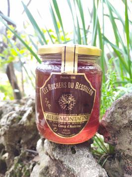 Miel de montagne (ou forêt) 500 g. verre