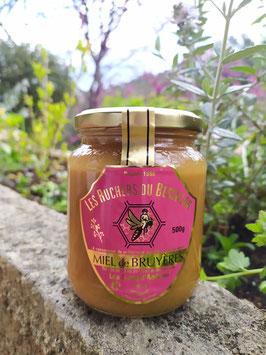 Miel de Bruyères 500 g. verre