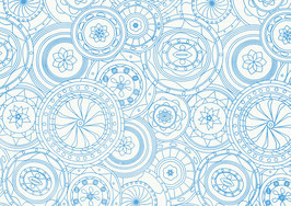 Resma papel seda blanco 17 gr. diseño 70x50 Ref. 151 S 15