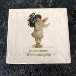 """Engel-Schachtel, """"Die herzlichsten Weihnachtsgrüße"""""""