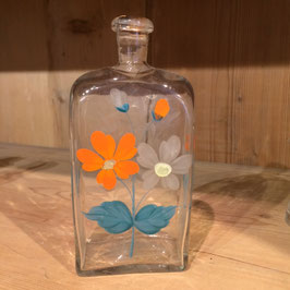 Flasche  alt handbemalt, Blumenmotiv