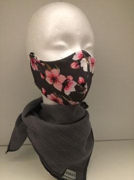 Nase/Mund Maske  Kirschblüten