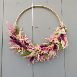 Flower-Hoop rosa/lila
