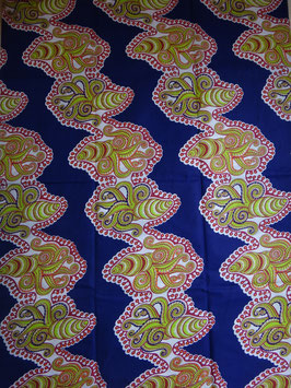 # 3 - Tissu WAX pagne africain 182X118CM -  100% Coton- African Print