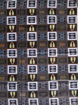 # 1 - Tissu WAX pagne africain 182X118CM -  100% Coton- African Print