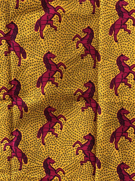 # 61 - Tissu WAX pagne africain 182X118CM -  100% Coton- African Print - je cours plus vite ma rivale