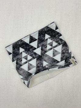 Loop schwarz meliert mit weißen Dreiecken