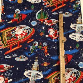 """Baumwollstoff """"Santa in Space"""""""