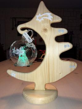 Tannenbaum mit Leuchtkugel - verschiedene Farben
