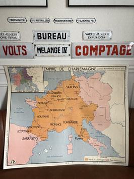 Carte scolaire L'Empire de Charlemagnes / Les invasions barbares de 311 à 481