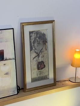 Horst Jannsen mit Rahmen ca. 60 x 100 mit Signatur