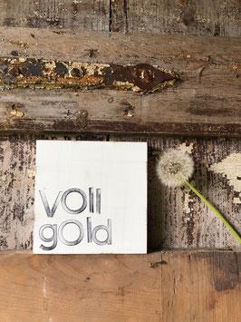 "15x15cm Textplatte ""vollgold"""