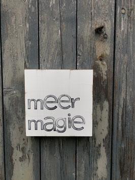 """15x15cm Textplatte """"meermagie"""""""
