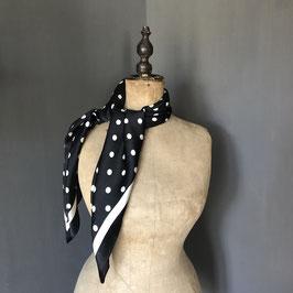 Sjaal |  Stippen zwart
