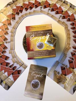 """Mein eigenes Kartenset """"Das goldene Licht der Engel""""® mit Orgonit - Engelsymbol -Pyramide & MP4 Meditation DER EINFÜHRUNGSPREIS BIS ZUM 15. AUGUST 2020"""