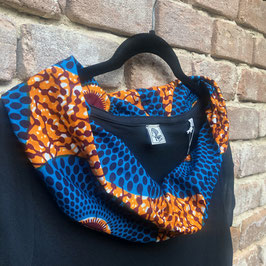 SALE! T-shirt mit afrikanischem Waxprint-Kragen (Nr. 23)