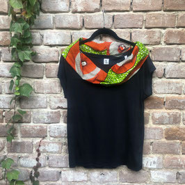 SALE! T-shirt mit afrikanischem Waxprint-Kragen (Nr. 13)