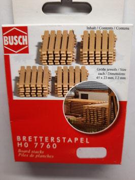 pile de planches HO 1/87 BUSCH Réf : 7760