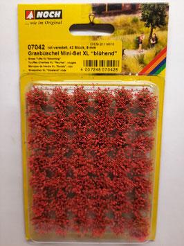 """42 touffes d'herbes """"fleuries rouges""""   xl   HO 1/87 NOCH    Réf:07042"""