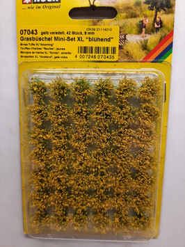 "42 touffes d'herbes ""fleuries jaunes""   xl    HO 1/87 NOCH    Réf:07043"