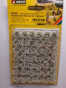 "42 touffes d'herbes ""fleuries blancs""   xl    HO 1/87 NOCH    Réf:07045"