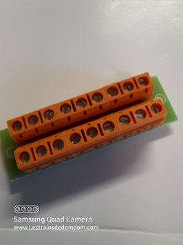 bornier distributeur 1 pole  Orange