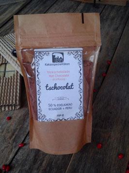 Trinkschokolade  'TSCHOCOLAT' aus 70% PERU Hochlandkakao