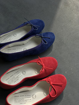 chausser/Suede flat shoes Travel shoes