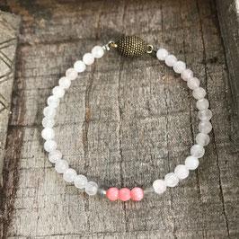 Regenbogenmondstein Jade Labradorit Armband