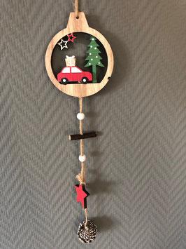 Hänger Holz Auto-Kugel-Baum