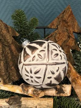 Weihnachtskugel Groß  mit Ornamenten Variante 1