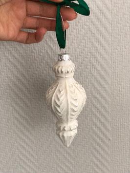 Ornament Kugel weiß Variante 1