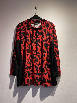 Shirt mit Allover-Print schwarz-rot / seeyou / 72704