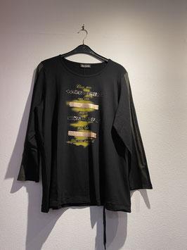 Shirt schwarzgrundig mit Motivdruck / seeyou / 70608
