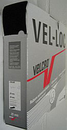 Klittenband plakbaar zachte kant (velours/vrouwtje) zwart 50 mm