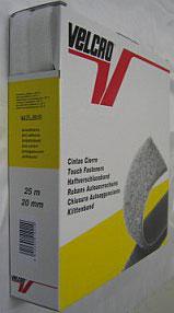 Plakbaar klittenband 20 mm wit